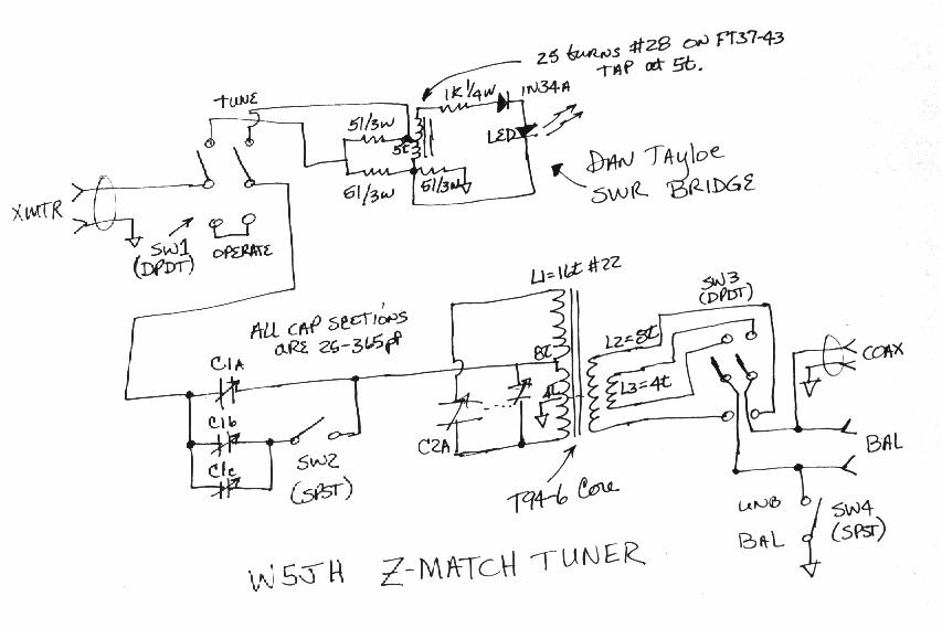 projects of w5jh, Wiring schematic